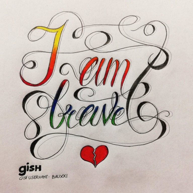 I'm thankful for that this year I was brave enough to break free and was able to discover who I really am. Going new ways. #ThanksGISHing #gish #lgbtq @bauxi1990