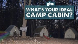 What's Your Camp Cabin? with cabins in the woods