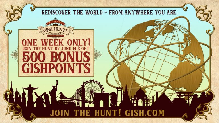 One Week Only! Get 500 Bonus GISHPoints when you sign up by June 14!
